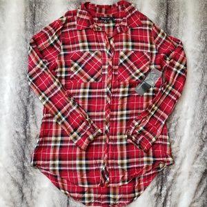 Relativity button down plaid shirt